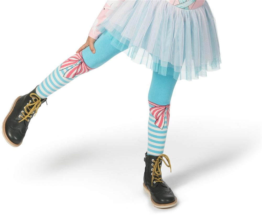 Paper Wings Bow and Stripes Tights - Honeypiekids.com