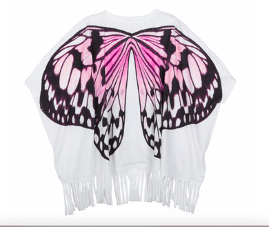 Paper Wings Fringed Butterfly Wings Beach Poncho - Honeypiekids.com