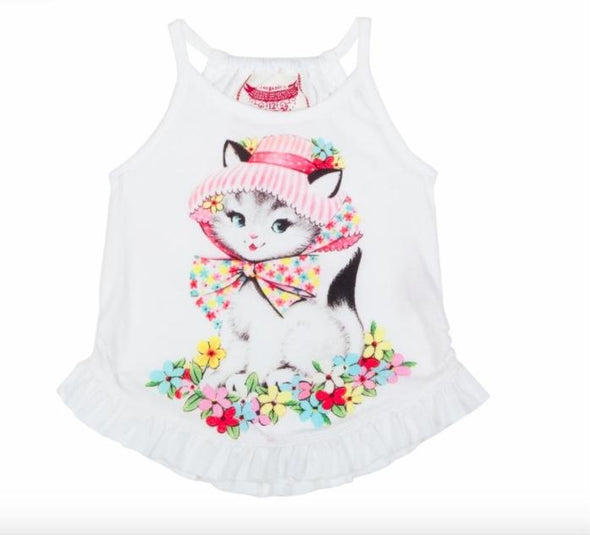 Honeypiekids | Paper Wings Infant Girls Summer Kitty Shirt