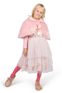 Paper Wings Pink Faux Fur Cape | Honeypiekids