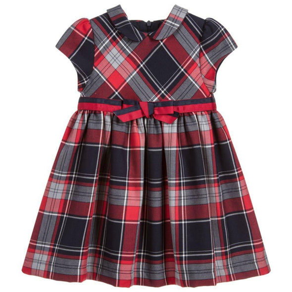 Honeypiekids | Patachou Navy Tartan Dress