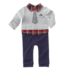 Red Plaid Collared One Piece MudPie Outfit | Honeypiekids