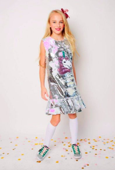 Honeypiekids | Magic Sequin Unicorn Dress