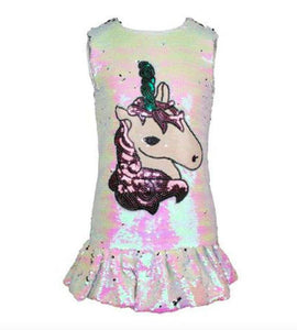 Magic Sequin Unicorn Dress - Honeypiekids.com