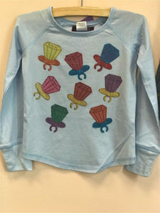 Sparkle by Stoopher Light Blue Long Sleeve Ring Pop Shirt | Honeypiekids