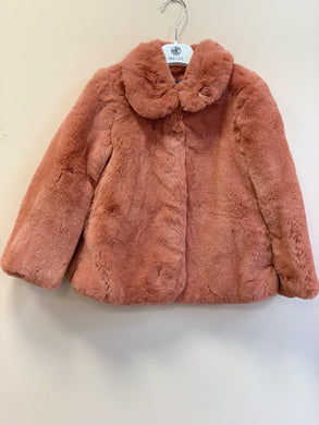 honeypiekids | Abel & Lula Girls Blush Faux Fur Coat