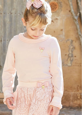 Angel's Face Amanda Long Sleeve Top in Blush