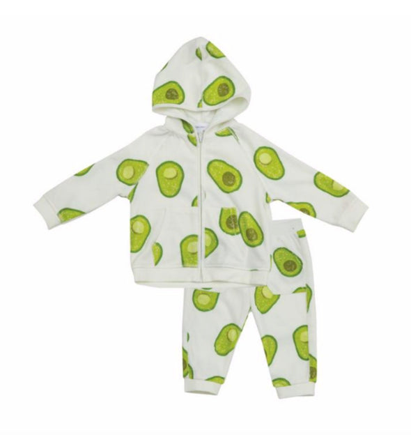 Honeypiekids | Angel Dear Avocado Velour Jogging Suit