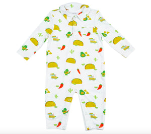 honeypiekids | Angel Dear Infant Taco Party Bamboo Zipper Romper With Pockets