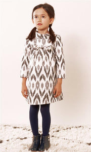 honeypiekids | Anthem of the Ants Bow Party Dress in Birchwood Pattern