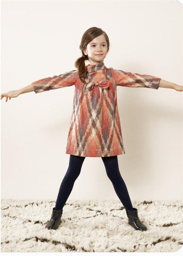 Honeypiekids | Anthem of the Ants Bow Party Dress in Desert Frost