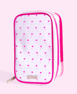 Petite'n Pretty Beauty Bag Pink Palms Brush Bag | Honeypiekids