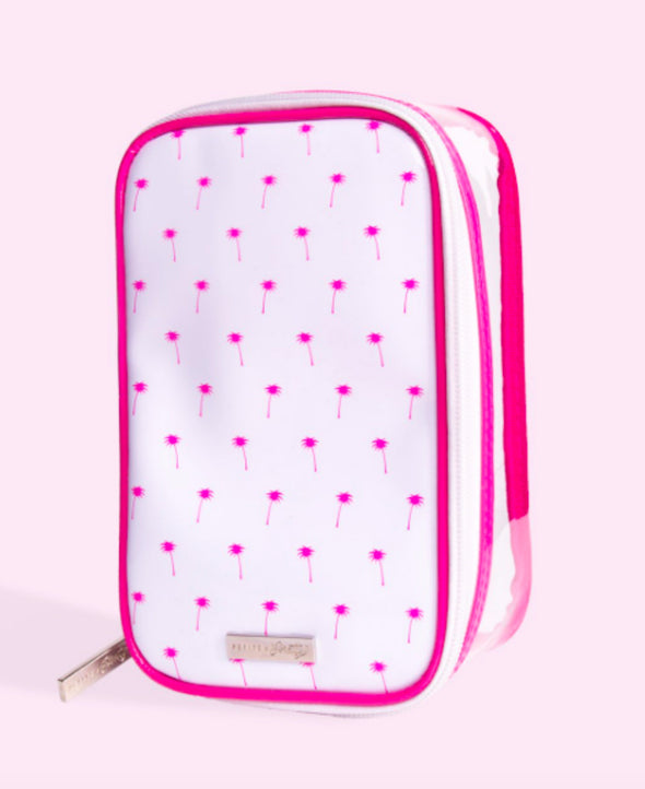 Honeypiekids | Petite'n Pretty Beauty Bag Pink Palms Brush Bag