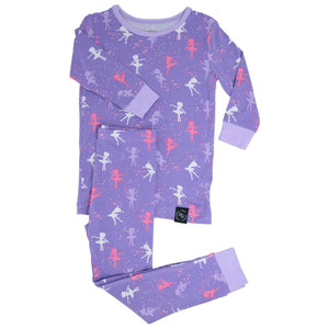 Sweet Bamboo Long Sleeve & Long Pant Pajamas In BALLERINA Pattern
