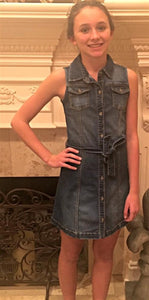 Bebe Denim Shirtdress with Sash | Honeypiekids