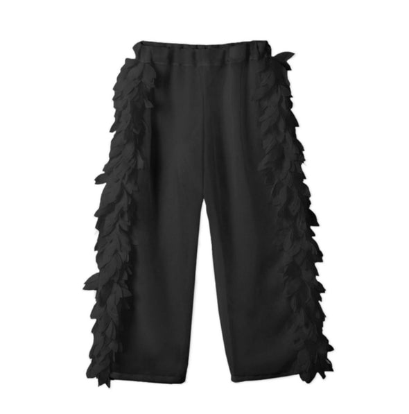 Honeypiekids | Stella Cove Black Petals Sheer Pants