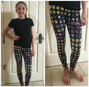 Black Emoji Leggings | Honeypiekids