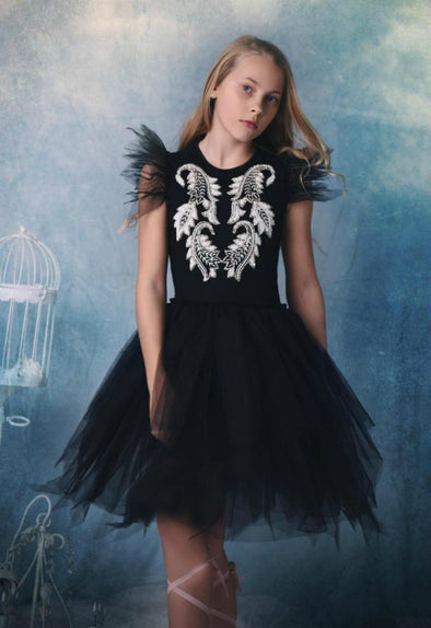 Honeypiekids | Ooh La La Couture Black Imperial Dress