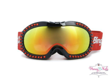 honeypiekids | Bling 2o Boys Red Spiker Ski and Snow Mask.