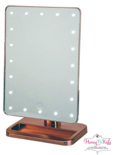 honeypiekids | Bluetooth Melody Vanity Mirror In Rose Gold.