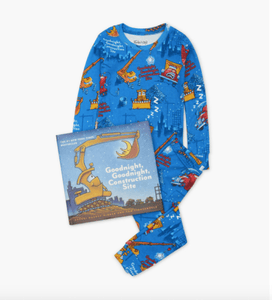 honeypiekids | Books to Bed Goodnight, Goodnight, Construction Site Book and Boys Pajama Set.
