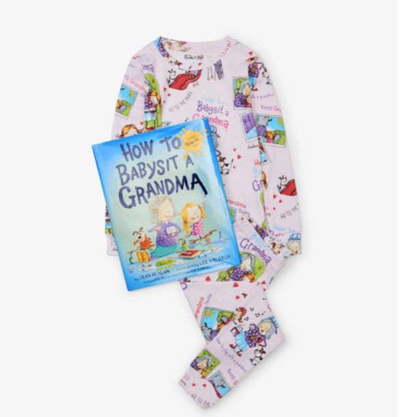 honeypiekids | Books to Bed How To Babysit A Grandma Toddler and Youth Pajamas and Book.