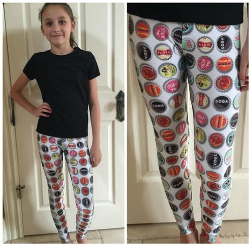 Honeypiekids | WHITE BOTTLE CAP PRINTED LEGGINGS