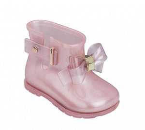 Mini Melissa Sugar Rain Princess Boots In Pink | Honeypiekids