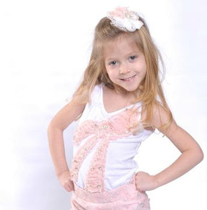PETITE BY CELINE EMBELLISHED LEOTARD - Honeypiekids.com