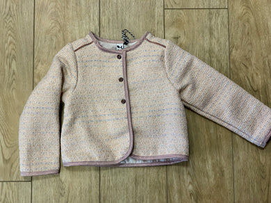 3Pommes Girls Pale Pink Long Sleeved Chanel Style Jacket