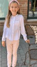 Load image into Gallery viewer, 3Pommes Girls White Crêpe Blouse