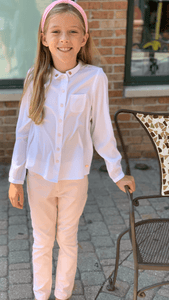 3Pommes Girls Old Pink Trousers | Honeypiekids