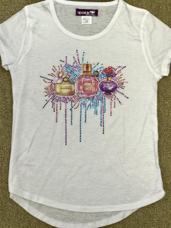Honeypiekids | Sparkle by Stoopher Perfume bottles shirt