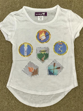 Sparkle by Stoopher Summer Camp shirt | Honeypiekids