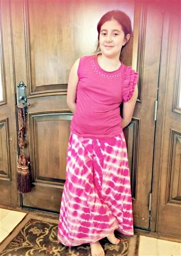 Cupcakes and Pastries Palazzo Pants in Fuchsia Tie Dye - Honeypiekids