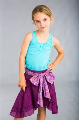Dimity Bourke Blossom Skirt in purple - Honeypiekids