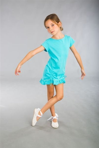 Dimity Bourke Merenque Dress in Cyan - Honeypiekids