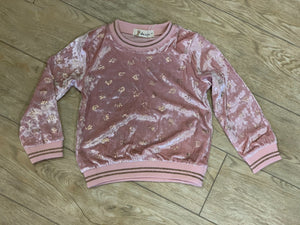 honeypiekids | Doe a Dear Girls Pink Velvet Princess Crowns Sweater.