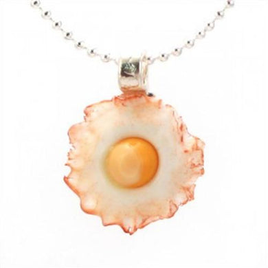 Tiny Hands Bacon Scented Fried Egg Necklace