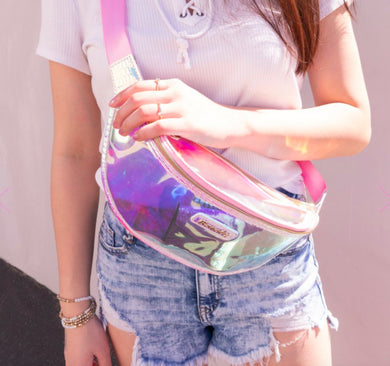 Bewaltz Holographic Jelly Fanny Pack