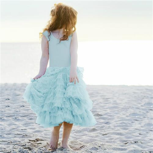 Honeypiekids | Pixie Girl Georgia Dress in Aqua