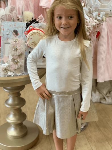 Honeypiekids | Lili Gaufrette Gold Laser Cut dress