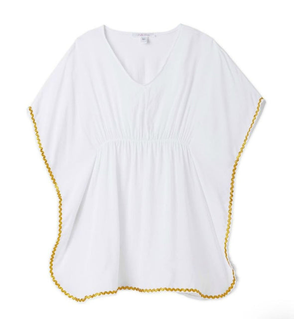 Honeypiekids | Stella Cove White and Gold Poncho Coverup