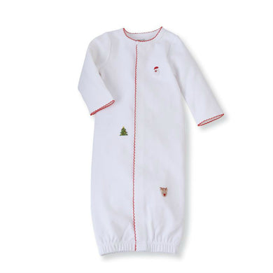 Honeypiekids | WHITE FRENCH KNOT CHRISTMAS SLEEP GOWN
