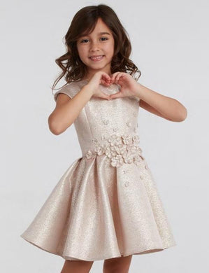 honeypiekids | Halabaloo Rose Gold Sparkle Bouquet Dress