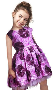 honeypiekids | Halabaloo Purple Bouquet Dress