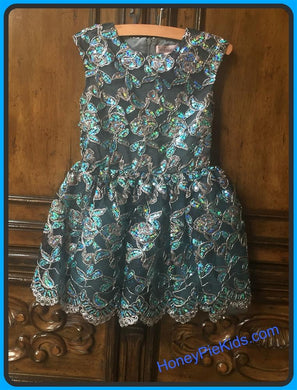 honeypiekids | Halabaloo Platinum Sequin Dress
