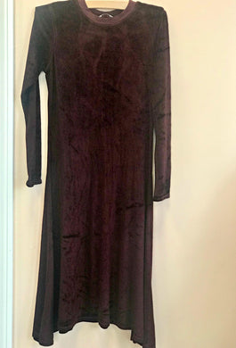 Honeypiekids | Hardtail Forever Girls Velour Long Burgundy Dress