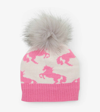 Honeypiekids | Hatley Girls Playful Horses Winter Hat
