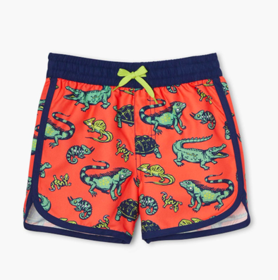 Honeypiekids | Hatley Boys Aquatic Reptiles Swim Shorts